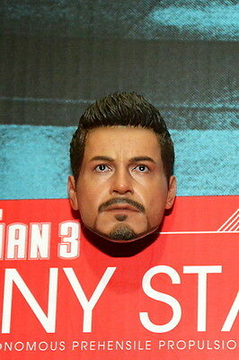 Hot Toys 1/6 Iron Man 3 : Tony Stark ROBERT DOWNEY MIND Head sculpt