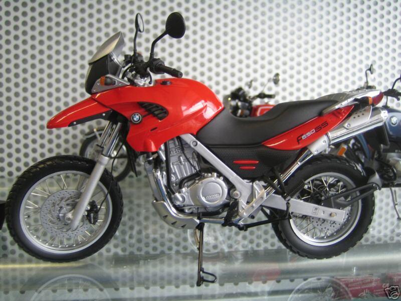 Bmw original werbemodell 1 10 bmw f650gs OVP f 650 GS miniatura 1999-2003 MIB rosso