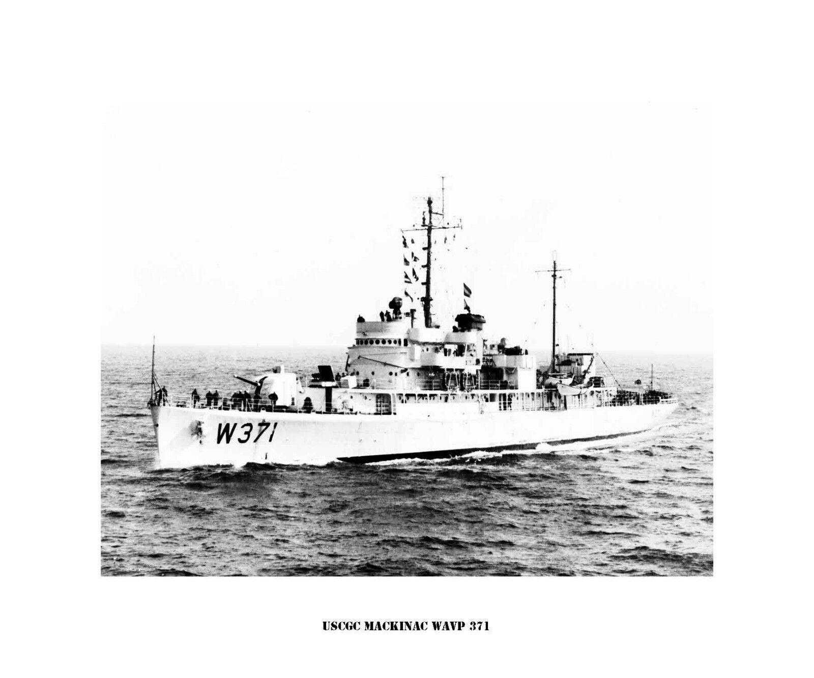 USCGC Mackinac WAVP 371  ---USCG, United States Coast Guard Ship Photo Print