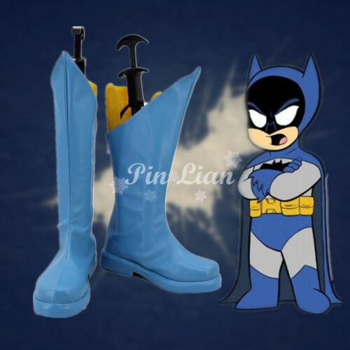 Batman Little League Boots Shoes Cartoon Super Hero Cosplay Costume Halloween