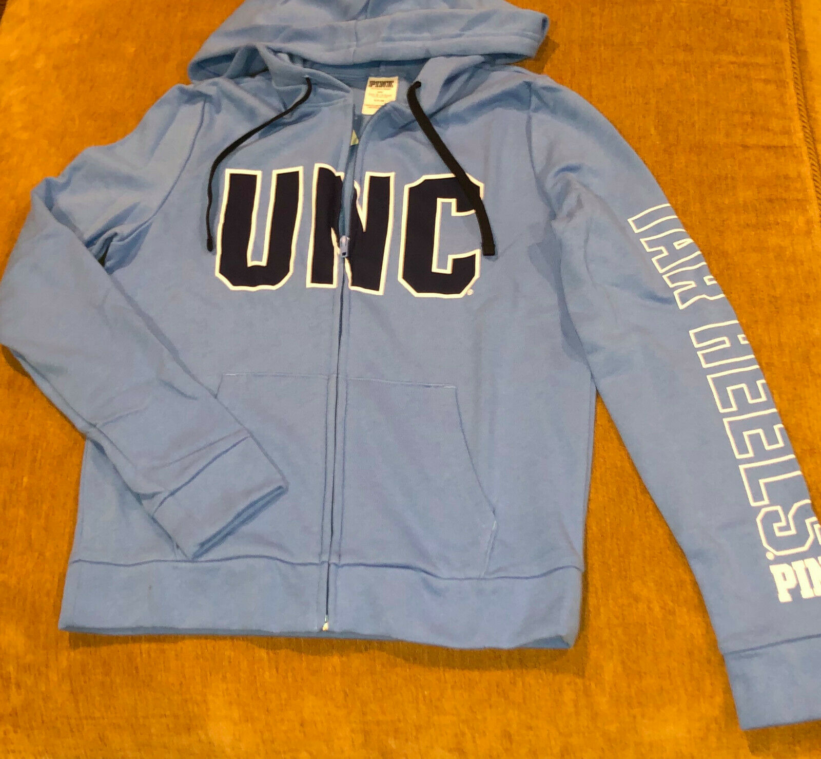 Victoria's Secret UNC Chapel Hill Tarheels, Full Full Full Zip Hooded Sweatshirt NWT, S 40afd1
