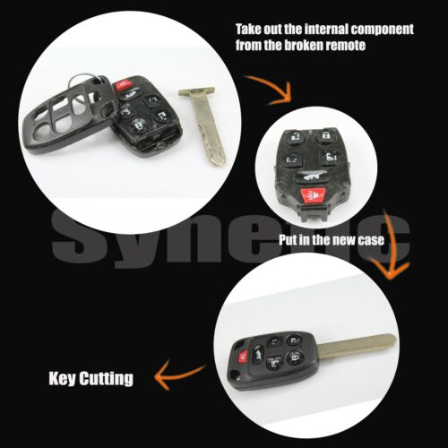 1x Replacement Key Case Remote Keyless Fob For Accord 2014 4-Button Uncut Blade