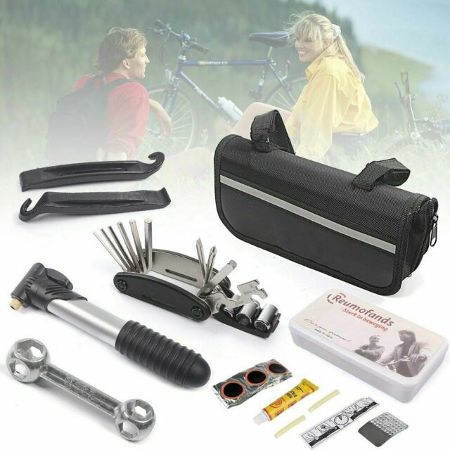 Bicycle MTB Repair Tool Kit Set For Mountain Bike Cycling Puncture Tyre Pump+Bag