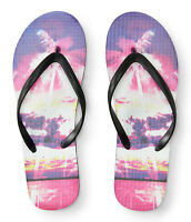 Aeropostale Womens Hawaiian Sunset Flip-flop Black