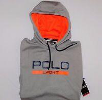 NWT Authentic RALPH LAUREN POLO SPORT  Men's Gray Tech Fleece Hoodie, L, XL