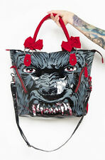 IRON Fist Clothing-WOMEN 'S WoLFBeaTeR Tote con cinturini fiocco rosso