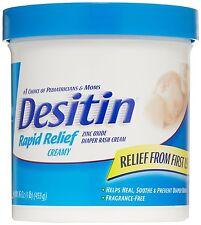 Desitin Rapid Relief Creamy Jar, 16-Ounce, Relieves Diaper Rash Discomfort, New
