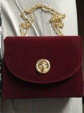 New Look Burgundy Velvet Box Bag / BNWT