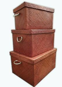 Vintage-Look-Storage-Trunks-Boxes-Stack-Home-Office-High-End-Distressed-Look