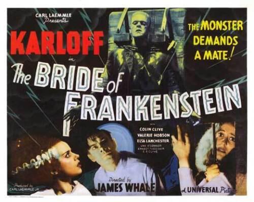 THE BRIDE OF FRANKENSTEIN Movie POSTER 30x40 Boris Karloff Elsa Lanchester