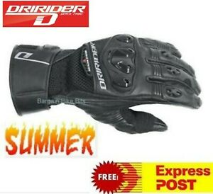 DRIRIDER-AERO-MESH-2-Motorcycle-Gloves-New-Summer-Dry-Rider-Med-Lg-XL-2XL-3XL