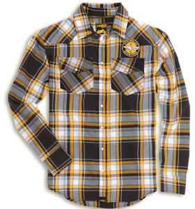 DUCATI interferenzaNverso checkered A QUADRI CAMICIA SHIRT GIALLO GRIGIO TURCHESE NUOVO!!! 							 							</span>