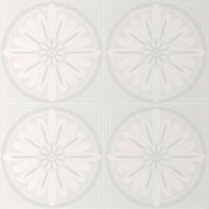 Glitzer Weiß Blüten Muster Strukturtapete Vinyl - E70490