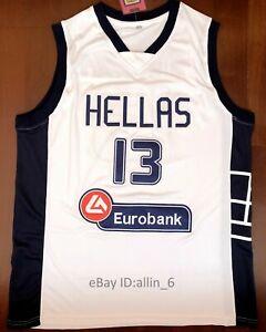 Giannis-Antetokounmpo-13-Greece-Hellas-Men-039-s-Basketball-Jersey-Stitched-White