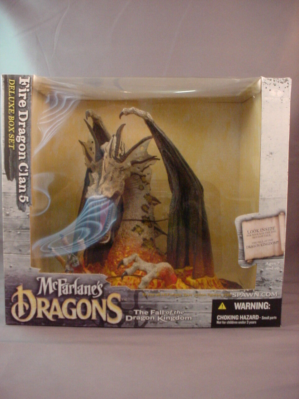 McFARLANE'S DRAGONS SERIES 5 FIRE DRAGON CLAN FIGURE DELUXE BOX SET