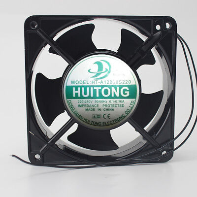 1PC HUITONG HT-A12038S220 220-240V 0.1-0.16A High temperature fan 2-Wire