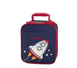 Pottery Barn Kids Classic Critter Rocket Lunch Bag Space