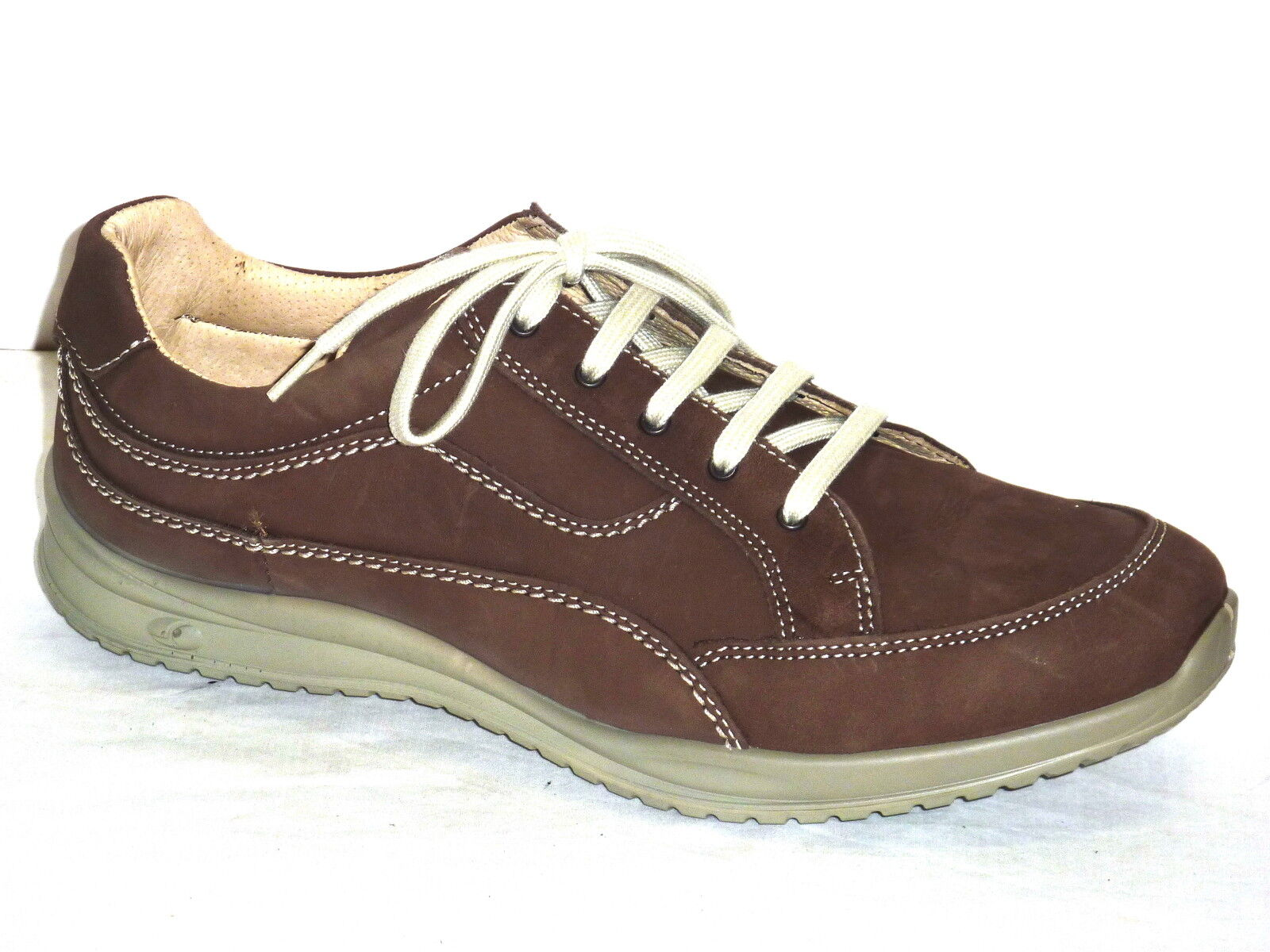 greyPORT shoes men ANTISTATICA CASUAL TEMPO LIBERO PELLE NABUK  brown n. 39