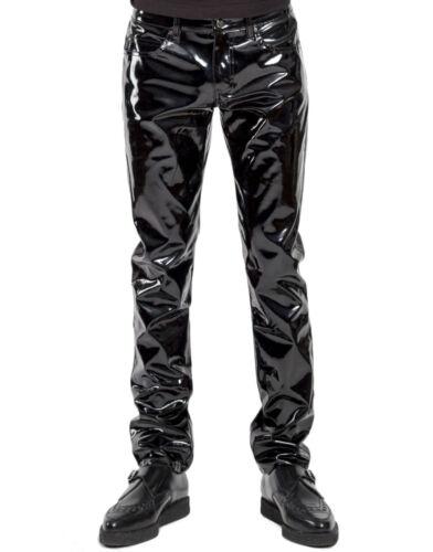 TRIPP NYC GOTHIC PUNK ROCKER EMO PVC GOTH SHINY VINYL PANTS JEANS BIKER RJ7113M