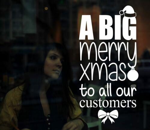 Merry Xmas Vinyl Shop Window Sticker Christmas Decal