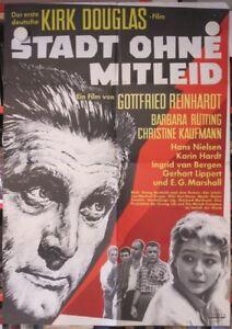 STADT-OHNE-MITLEID-Filmplakat-Poster-KIRK-DOUGLAS-Barbara-Ruetting-1961-RARITAT
