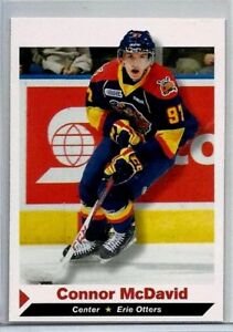 CONNOR-McDAVID-2013-ERIE-OTTERS-1ST-EVER-PRINTED-PRE-ROOKIE-CARD-SI-1-OF-9