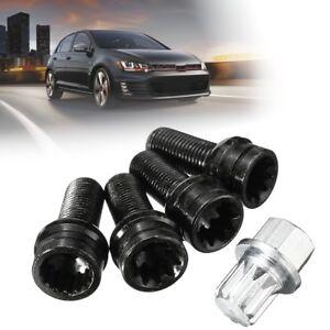 4-1-17mm-Ecrou-Boulon-Antivol-Pneu-Roue-complet-pour-VW-Golf-Jetta-Beetle-Passat