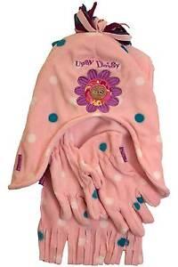 Girls-In-The-Night-Garden-Upsy-Daisy-Polyester-Fleece-Hat-Scarf-Glove-Set-Pink