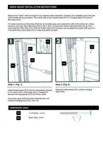 """Faux Wood DIY Traditional 1 1//4/"""" Interior Shutter Kits 27/"""" Width"""