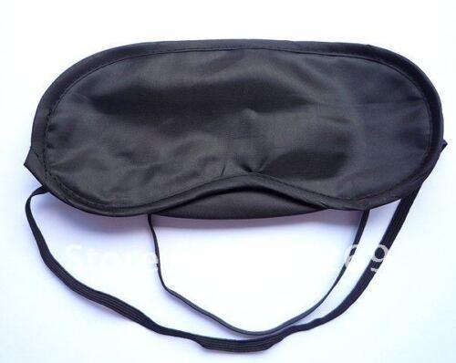 Precioso Negro Ojo Máscara para dormir viajes, los ojos vendados ideal para volar sueño Migrane