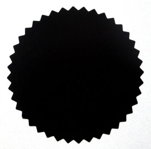 50 selbstklebende Siegelmarken Haftetiketten Prägeetiketten schwarz Ø 56 mm