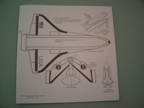 NASA SPACE SHUTTLE 1:200 SCALE MODEL KIT-100# PAPER MODEL AIRPLANE Set of 5