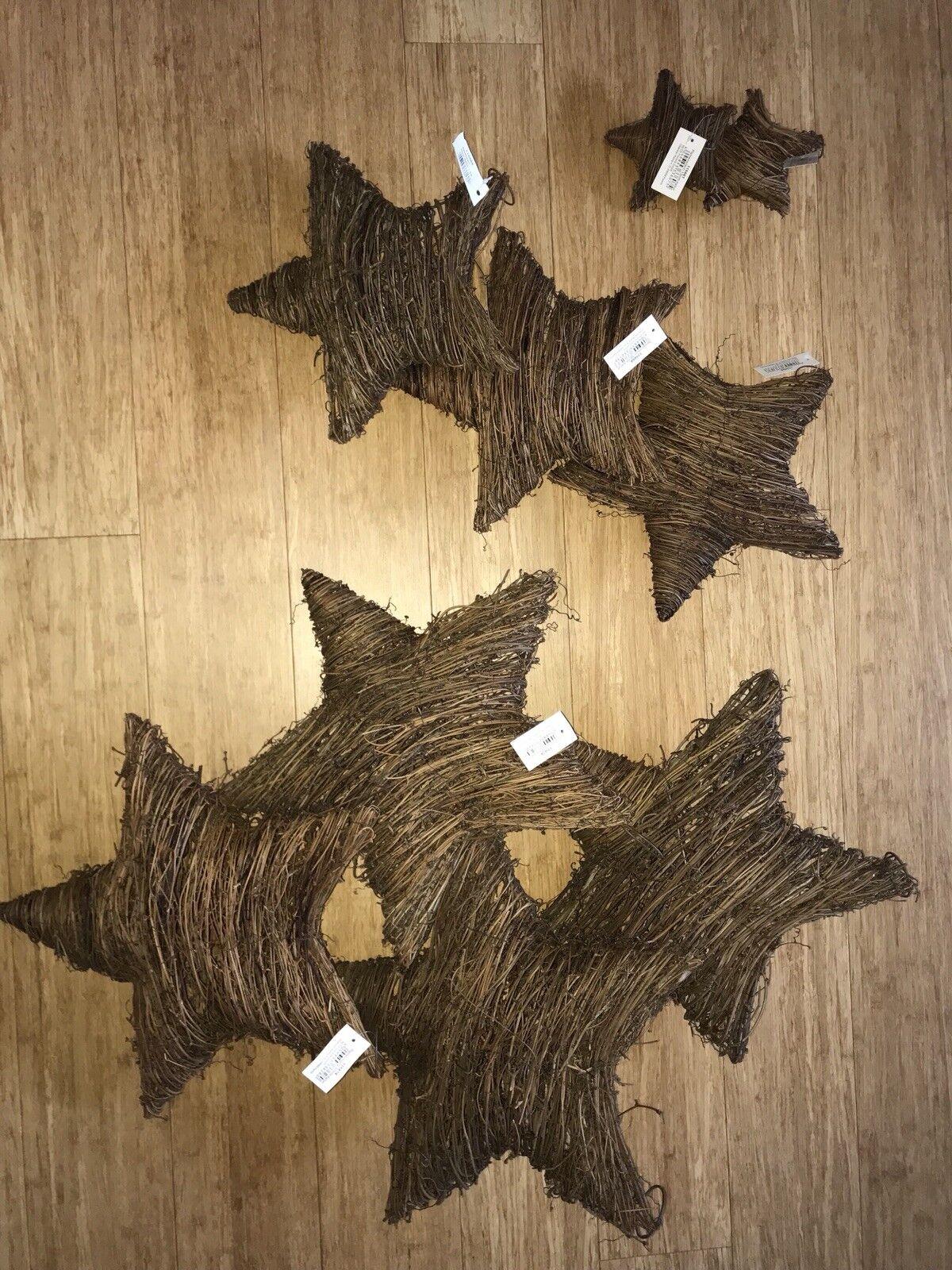 Rebenstern-Set Weihnachten Advent Winter Dekoration