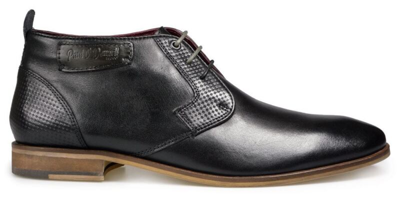 Paul O' Donnell Mens Lace Up Low Rise Formal Boot - Fresno Black In Uk6 To Uk15