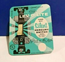 New Mint! NOS GE IVORY Single Gang 3 Way Silent Mercury Toggle Switch GE5523-2