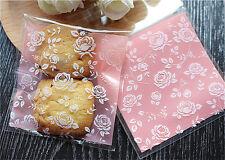 25 Piezas Cookies Adhesivo de embalaje bolsas de plástico para Hornear Boda Snack Pack B005