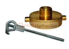 Fire Hydrant Adapter Combo 2 12 Nstf X 1 Nptm With Hd Hydrant Wrench
