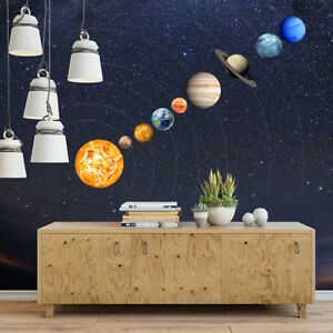 9#Planets Mars Decal Glow In The Dark SOLAR SYSTEM Wall Stickers ...