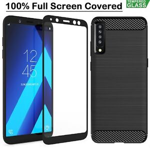 buy popular 861cc 96f0b Details about Samsung A9 Case Armor Cover + Tempered Glass Film For Samsung  Galaxy A9 2018