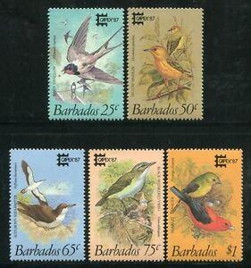 Humble Barbade 1987 Par Rapport Au Flux Oiseaux Birds Uccelli Fourgon 674-678 Tamponné Neuf Sans Charnière-afficher Le Titre D'origine Gagner Les éLoges Des Clients