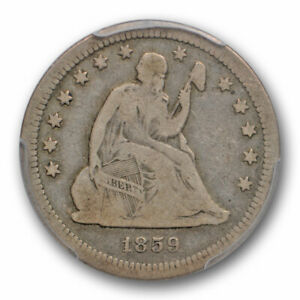 1859-S-25C-Seated-Liberty-Quarter-PCGS-F-12-Fine-San-Francisco-Mint-Date