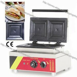 mercial Nonstick Electric 2 Slice Sandwich Toaster Press Maker