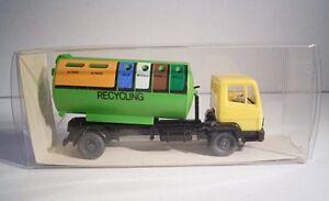 """08 281 Wiking 20643 """"mb Recyclage Conteneur Camion""""-afficher Le Titre D'origine"""