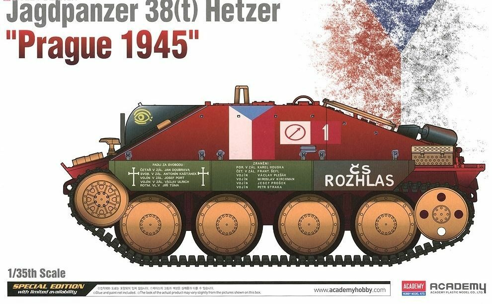 1 35 Academy Jagdpanzer 38(t) Hetzer 'Prague 1945'