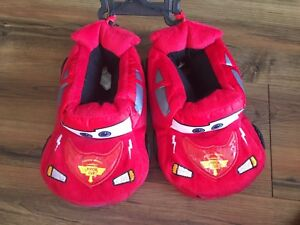 Cars Lightning McQueen Booties Slippers Toddler Small 5//6 Red