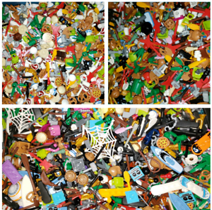 LEGO BULK LOT OF 100 NEW MINIFIGURE ACCESSORIES TOOLS WEAPONS MINIFIG PARTS