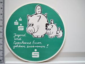 Aufkleber-Sticker-Sparkasse-Essen-Sparen-Jugend-Sparschwein-70er-2349