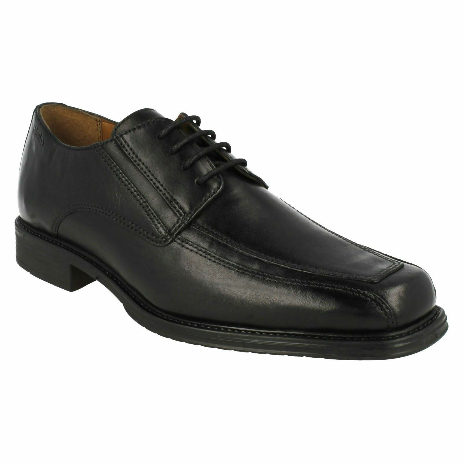 DRIGGS WALK MENS CLARKS BLACK LEATHER LACE UP SMART FORMAL OFFICE WORK SHOES