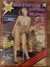 Erotik Plakat ** JOHN HOLMES SEIN STEIFSTER AUFTRAG 34 cm