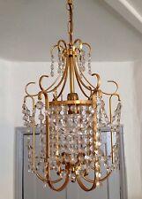 Vintage Crystal Ornate Bird Cage style Pendant Chandelier